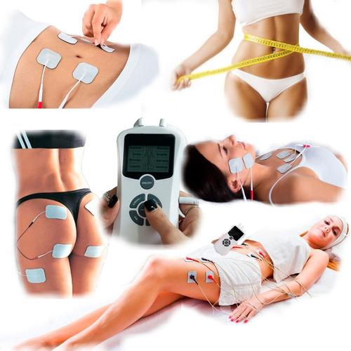 electroestimulador raiki portátil ondas tens 8 electrodos