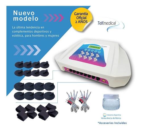 electroestimulador tekmedical isis fit - 16 electrodos