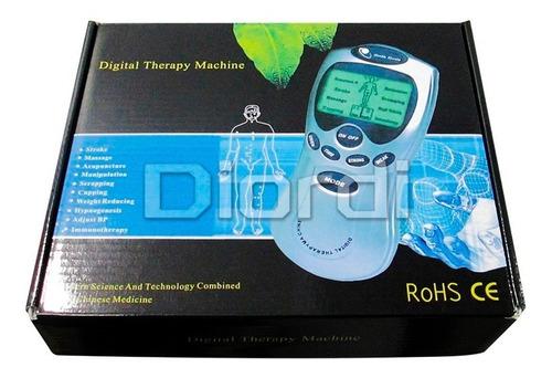 electroestimulador tens de terapia digital con 8 electrodos