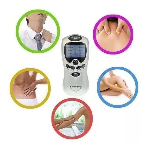 electroestimulador tens electrodos masajes pilas y 220v