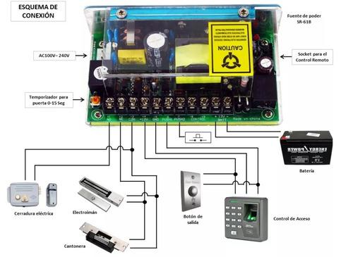 electroimán 600 libras (280 kg) - cerradura electrónica