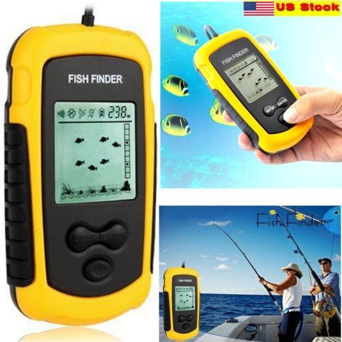 electrónica transductor fish finder sonar sonda alarma 100m