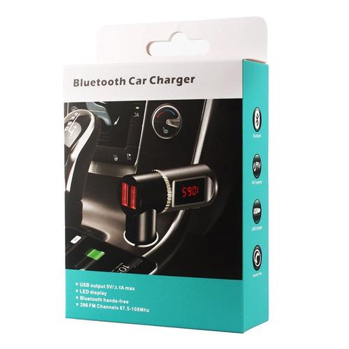 electronica transmisor fm bc08 kit bluetooth cargador negro