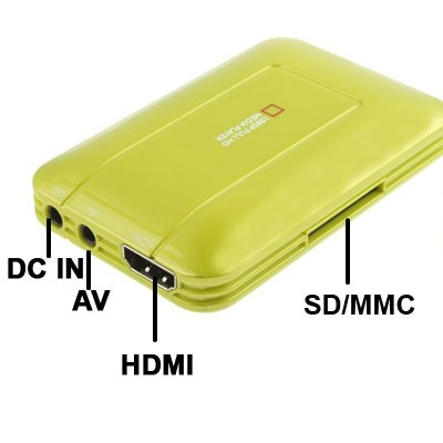 electronica tv media player reproductor multimedia verde