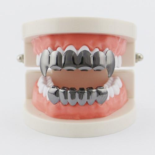 electroplate cobre 6 enchapado brillante grillz dientes cade