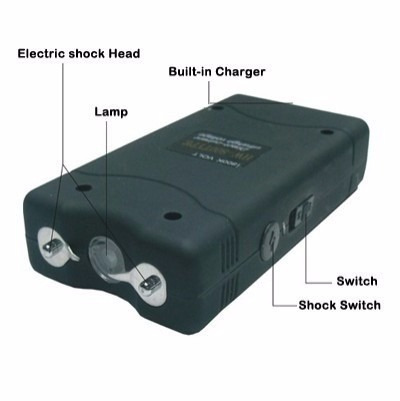 electroshock paralizador recargable portatil 25.000kv arequi