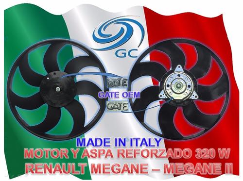 electroventilador (motor y  aspa) renault  megane g. c. gate