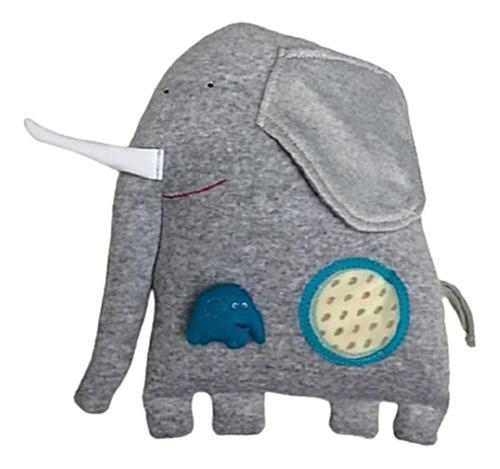 elefanta mama con cria iman muñeco de tela 30cm