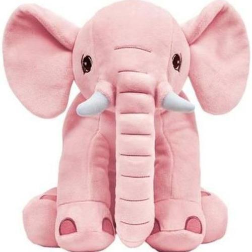 elefante almofada pelucia  rosa bebe criança buba baby.