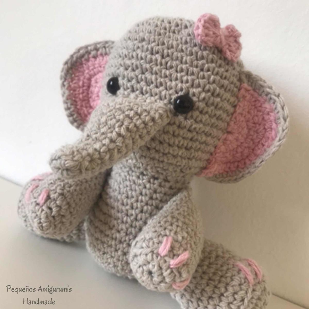 Amigurumi Crochet Crocheted AMIGURUMI Elephant [Trompa de elefante ... | 1200x1200