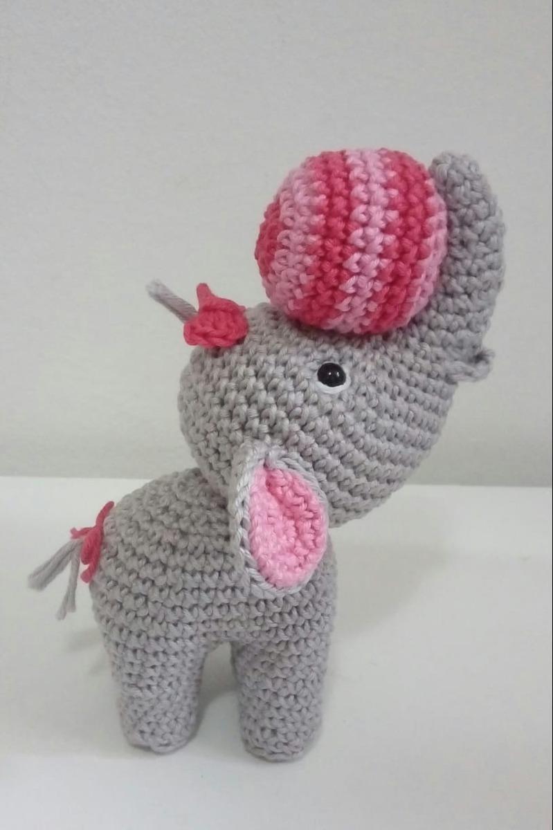 Juguetes de ganchillo gris Pink Elephant Esta super suave y mas ... | 1200x799