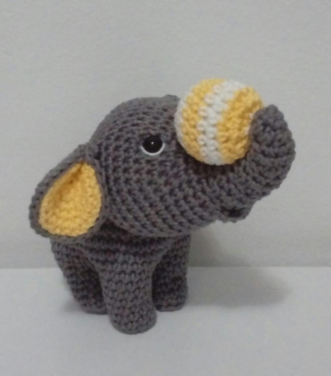 ELEFANTE AMIGURUMI | Elefante de crochê, Boneca amigurumi ... | 1200x1054