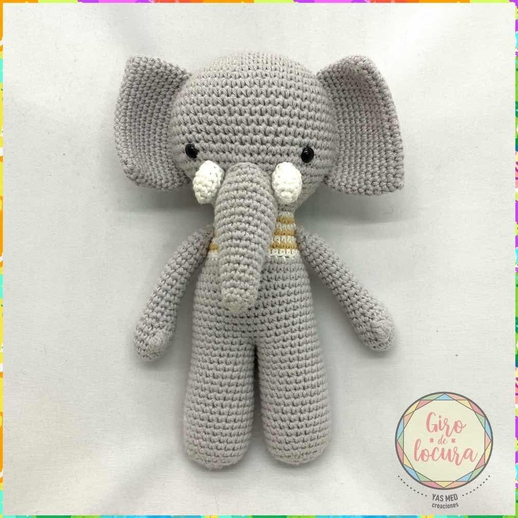 Elefante Amigurumi Muñeco Peluche Tejido Al Crochet en Mercado ... | 1008x1008