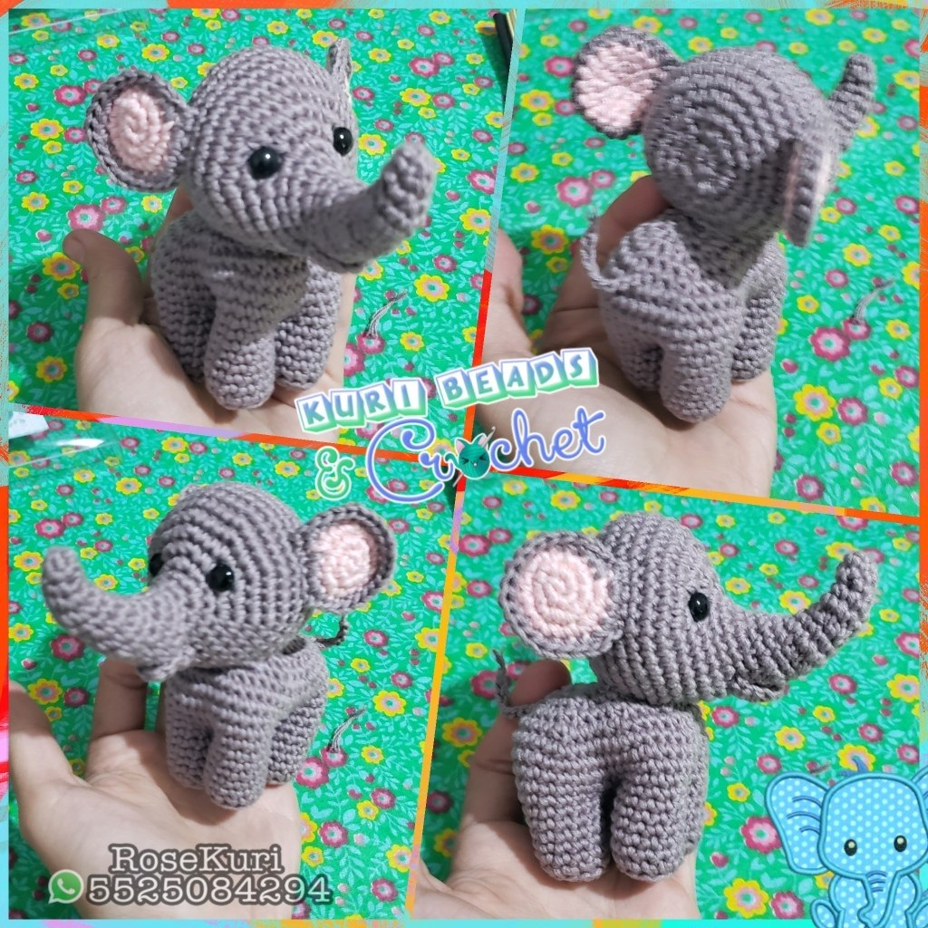 Elefante amigurumi 🐘 - YouTube | 1024x1024