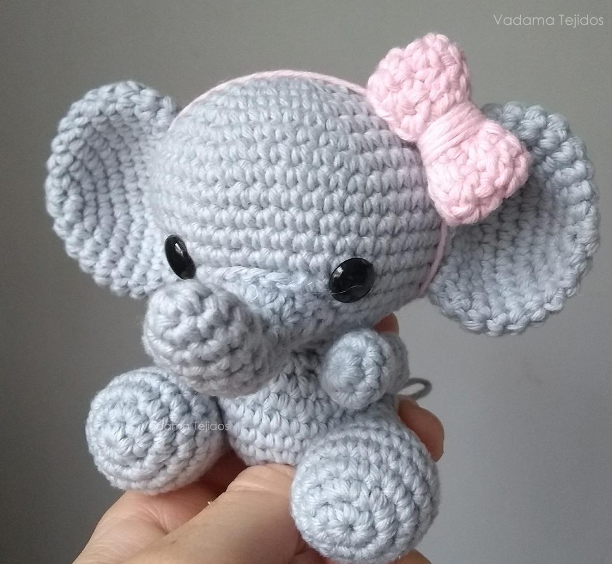 Elefante peluche, amigurumi de Two bee, patron gratis.Elephant ... | 1106x1200