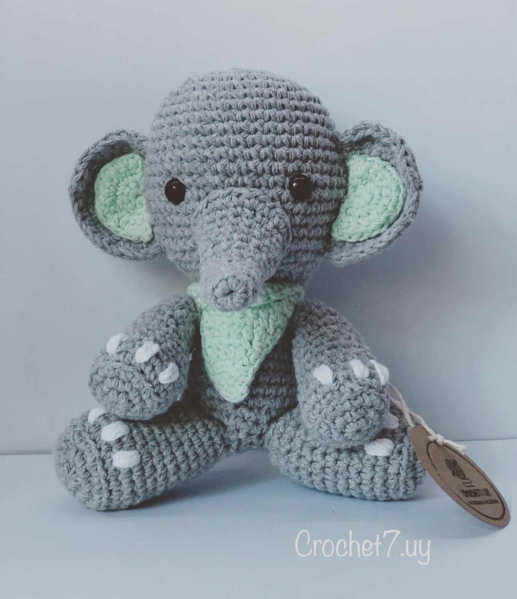Amigurumi bebé elefante patrón por Denizmum en Etsy | Elefantes ... | 1200x1035