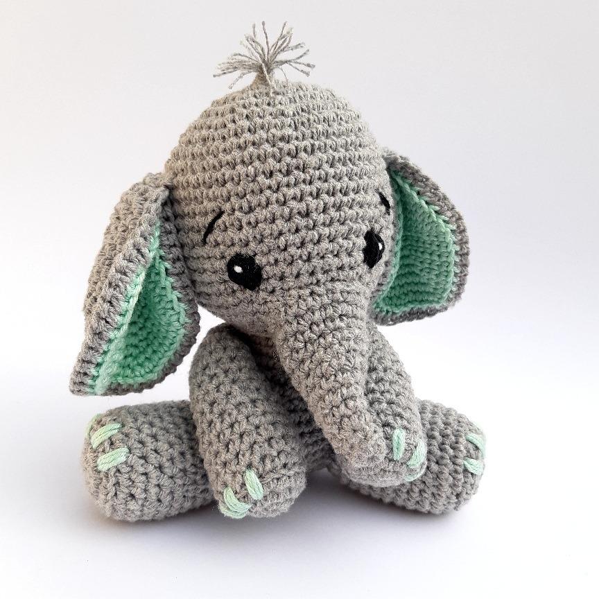 Amigurumi do Zero #36 - Como Fazer um Elefante ♥ - Parte 1 - YouTube | 864x864