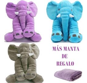 Gris Peluche Almohada Cm Bebés Osos Elefantes 60x40 Calidad klwiOXuPZT