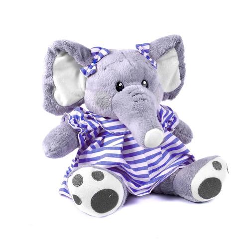 elefante de pelúcia loren azul 39 cm