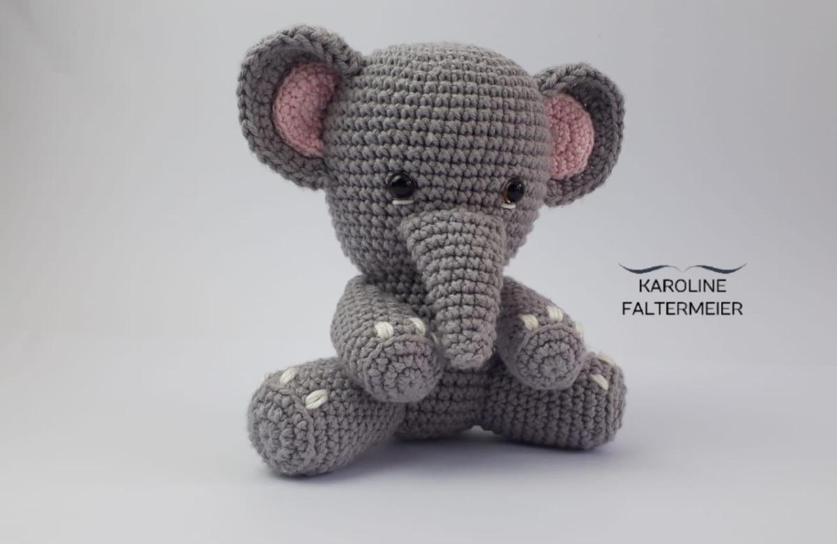 Elefante em Crochê - Amigurumi no Elo7 | Donna Crochet (FA401F) | 780x1200