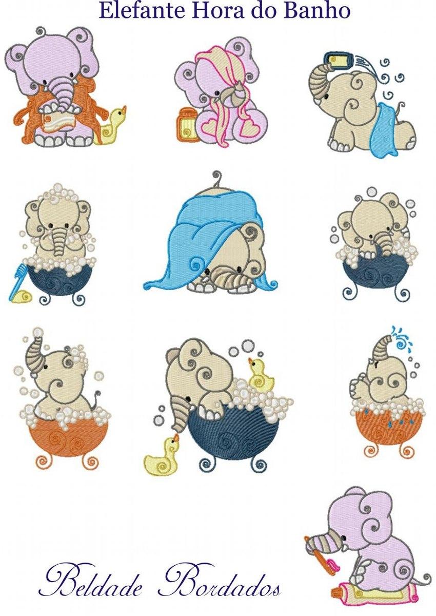 elefante hora do banho - coleção de matriz de bordado. Carregando zoom. 75634ca44fb