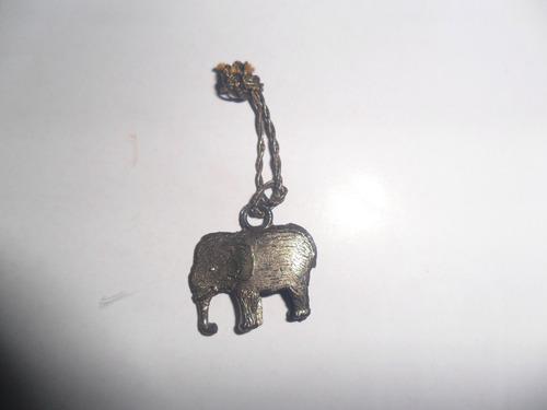 elefante miniatura japan metalico elefantito colgante retro