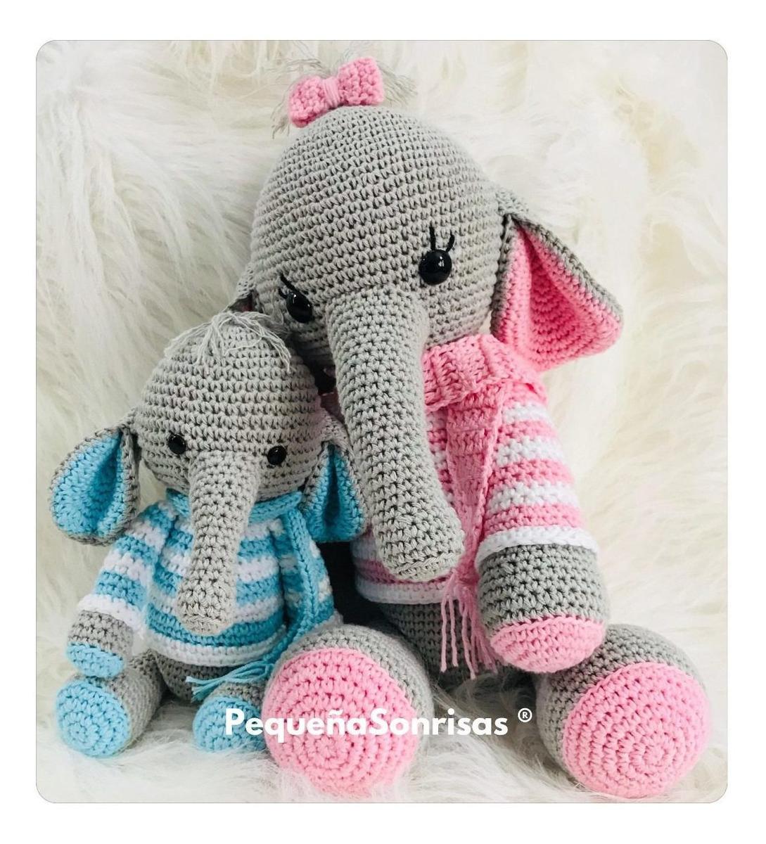 Crochet Pattern - Elephant Nina | Haakpatronen, Patronen, Gehaakte ... | 1200x1089