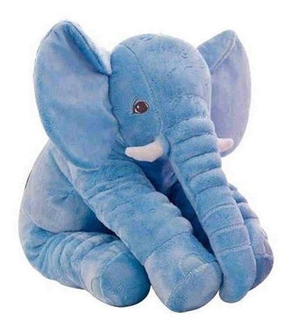 elefante pelucia azul antialergico bebe criança buba baby .