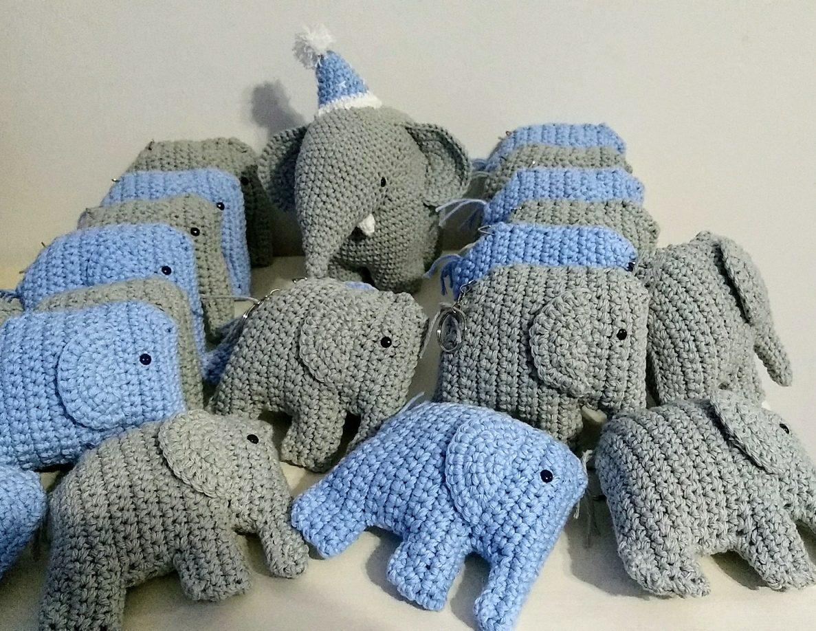 Elefantes tejidos a crochet   918x1187
