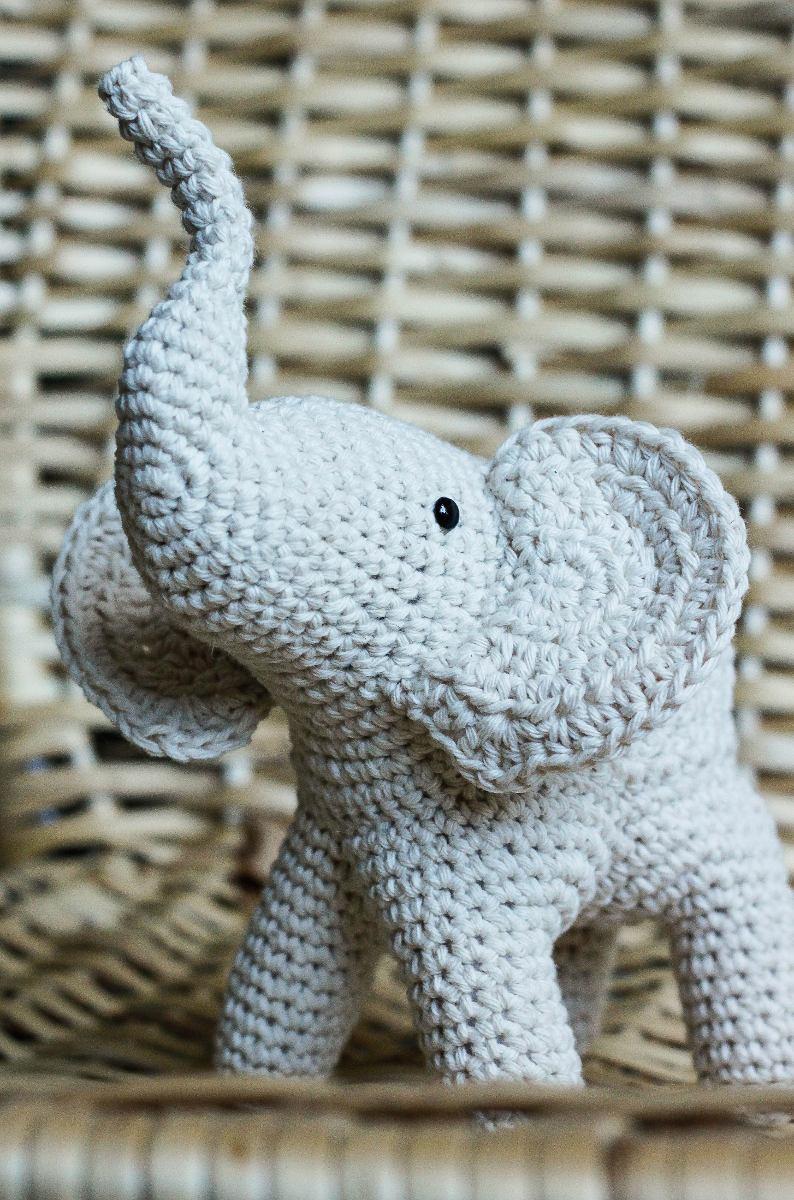 Excepcional Ganchillo Patrón Del Elefante De Peluche Embellecimiento ...