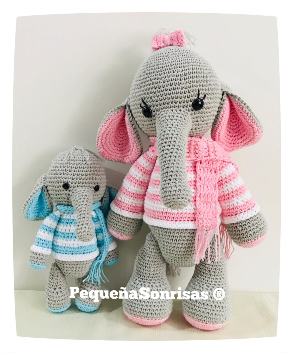 Crochet Pattern - Elephant Nina   Tiere häkeln anleitung kostenlos ...   1200x996