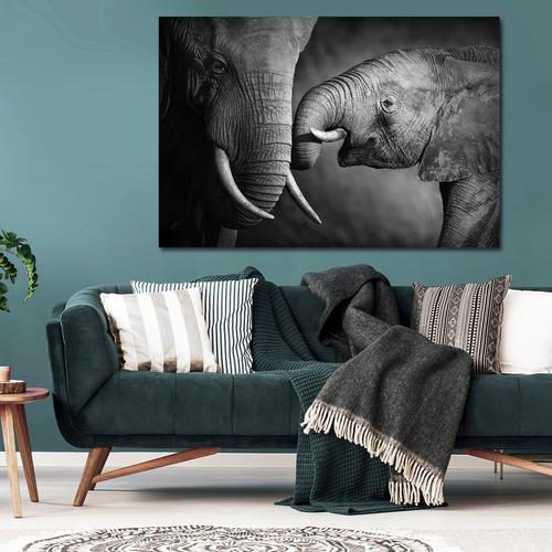 elefantes mama e hijo, gde lienzo canvas cuadro decorativo