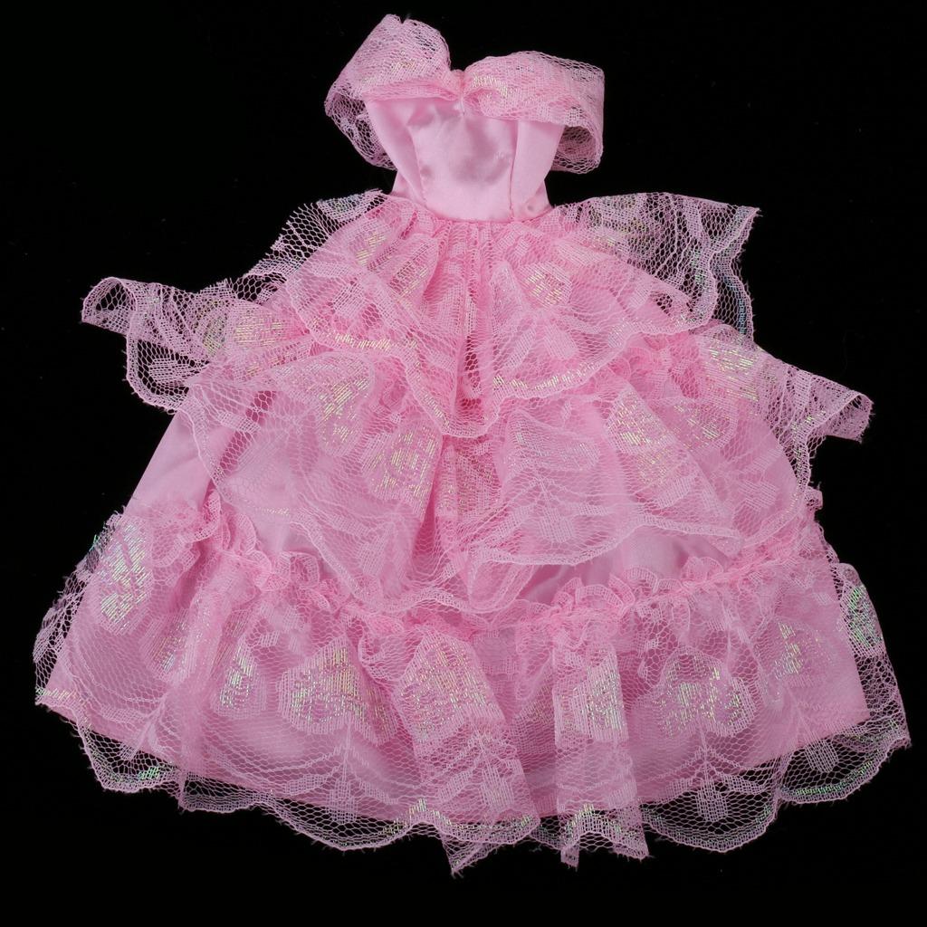 Elegante 3 Capas Encaje Boda Vestido Vestido Para Barbie - $ 212.69 ...