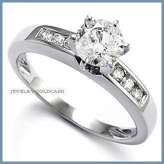 elegante anillo de compromiso en plata envio gratis