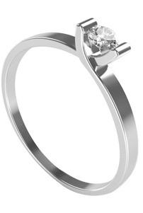 elegante anilo de compromiso plata oro blanco