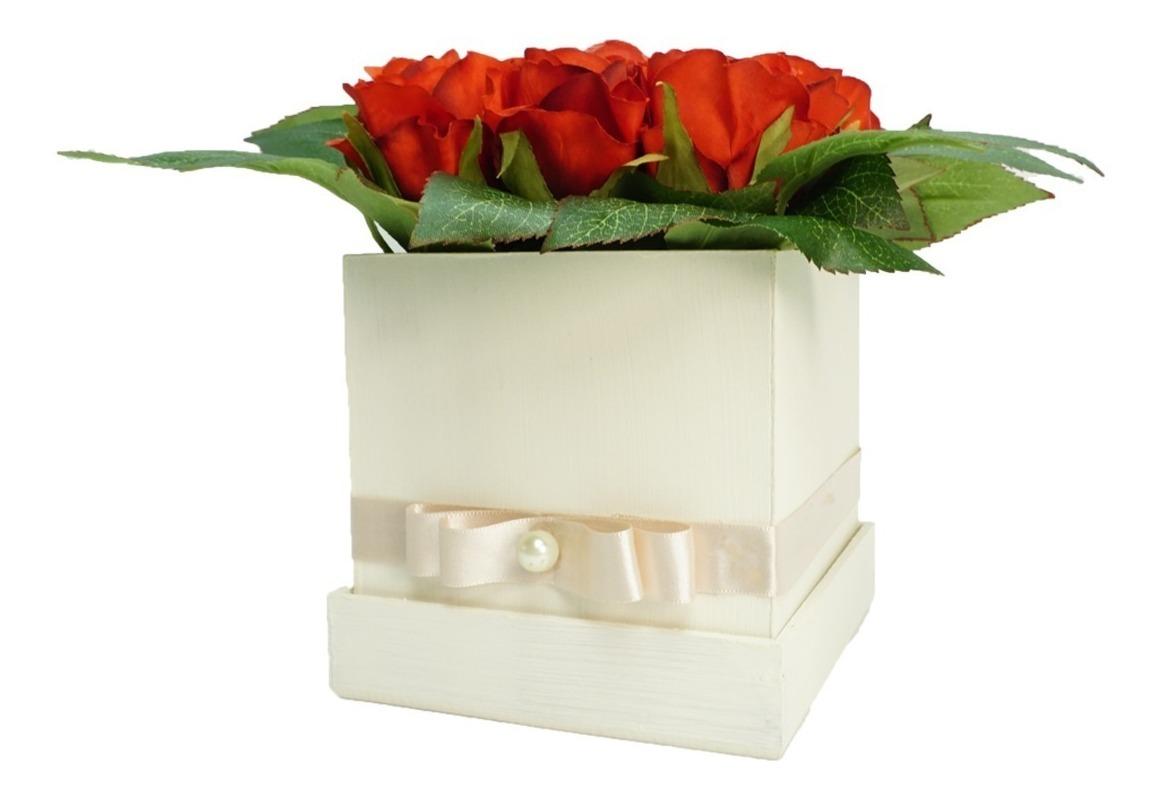 Elegante Arreglo Floral Rosas Flores Artificiales