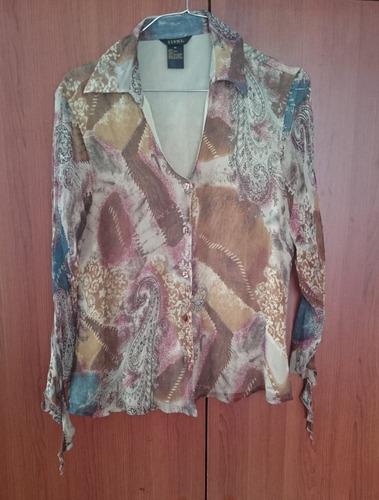 elegante blusa americana sioni silk talla m
