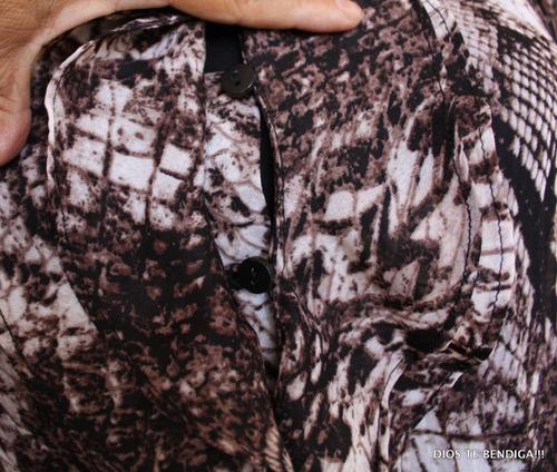 elegante blusa animal print ts