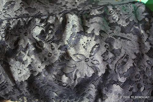 elegante blusa encaje traslucido brillos xs