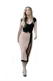 34a97ffbd Elegante Blusa Falda Vestido 2 En 1 Moda Casual 5107