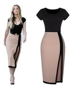 bfc8ab3ce Elegante Blusa Falda Vestido Moda Casual Vestido