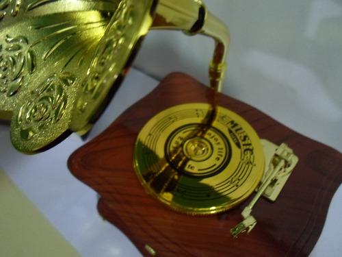 elegante caja musical forma toca discos antiguo ideal obsequ