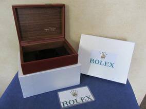 Estuche Para Hecho Reloj Suiza Marca En Elegante Rolex P8nkw0O