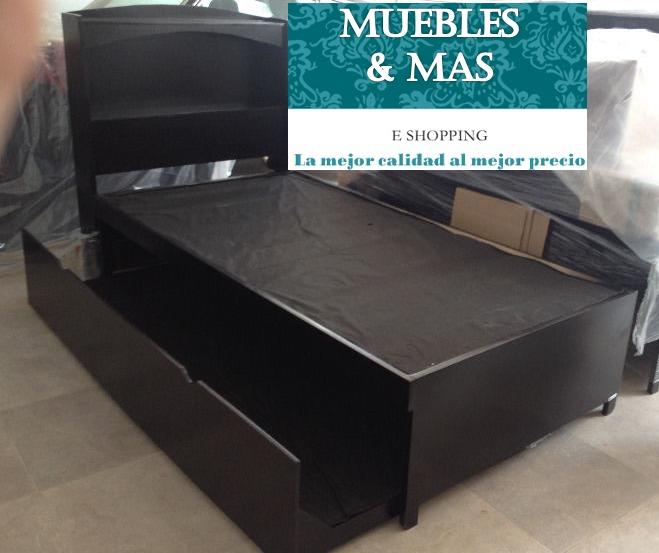 Elegante cama canguro de madera color chocolate 2 990 for Cama canguro conforama