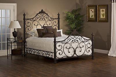 elegante cama queen estilo barroco rústico hillsdale 1742bqr