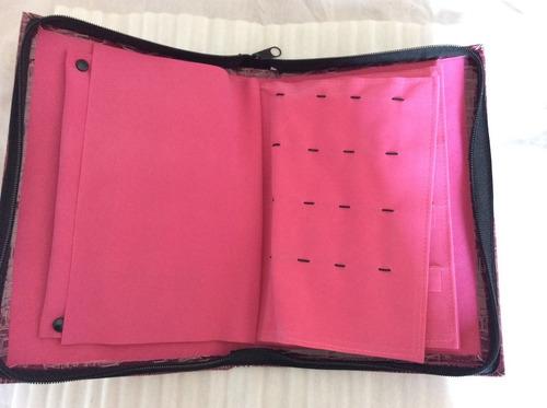 elegante carpeta portafolio organizador protege joyería