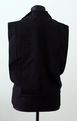 elegante chaleco negro the clothier 100 lana un solo uso -