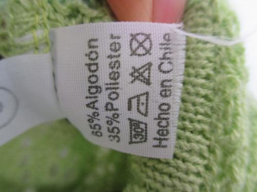 elegante chompa color verde talla s.importada.