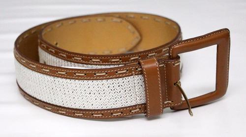 elegante cinturon italiano para cintura marron  cuero