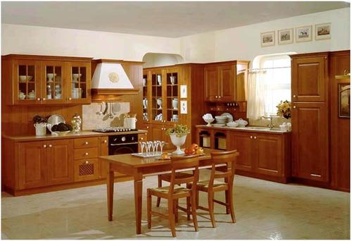 elegante cocina moderna fabricada en modulos